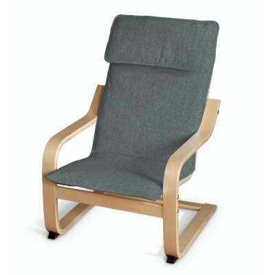 Poduszka na fotelik dziecięcy Poäng 704-85 szary błekit szenil Kolekcja City