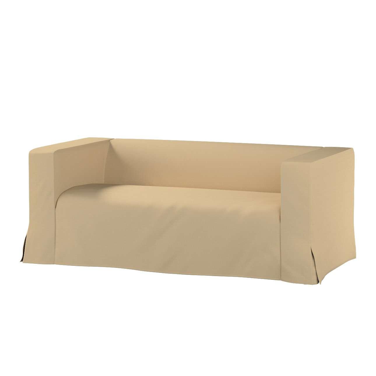 Pokrowiec na sofę Klippan 2-osobową długi z kontrafałdami Klippan 2-os w kolekcji Cotton Panama, tkanina: 702-01