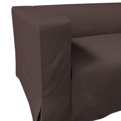 Pokrowiec na sofę Klippan 2-osobową długi z kontrafałdami w kolekcji Cotton Panama, tkanina: 702-03