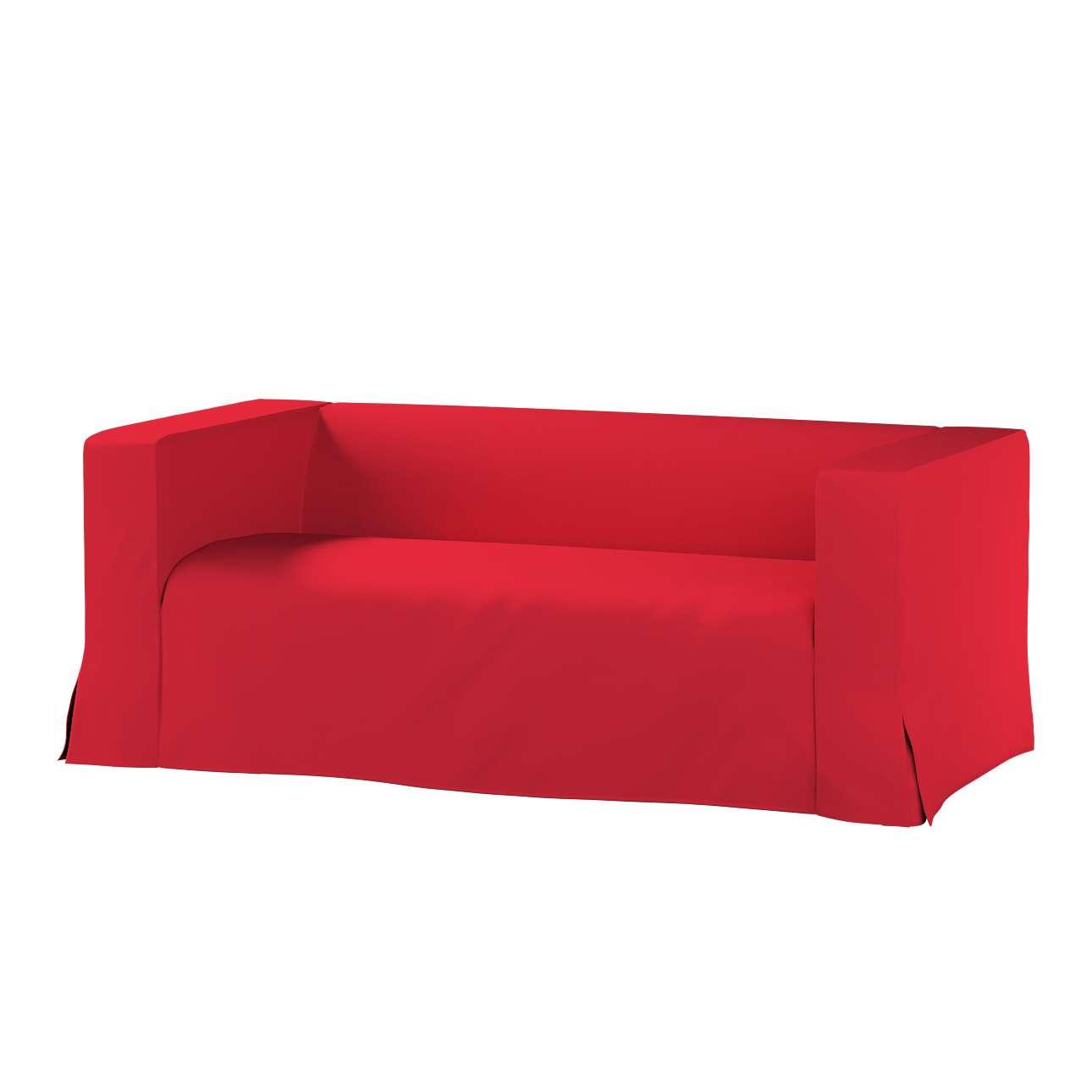 Pokrowiec na sofę Klippan 2-osobową długi z kontrafałdami Klippan 2-os w kolekcji Cotton Panama, tkanina: 702-04