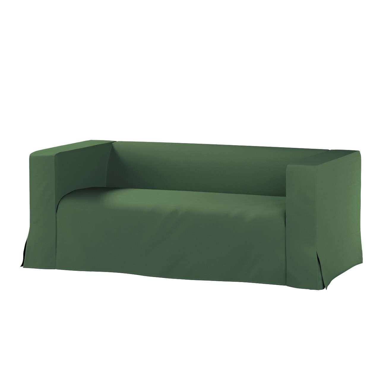 Pokrowiec na sofę Klippan 2-osobową długi z kontrafałdami Klippan 2-os w kolekcji Cotton Panama, tkanina: 702-06