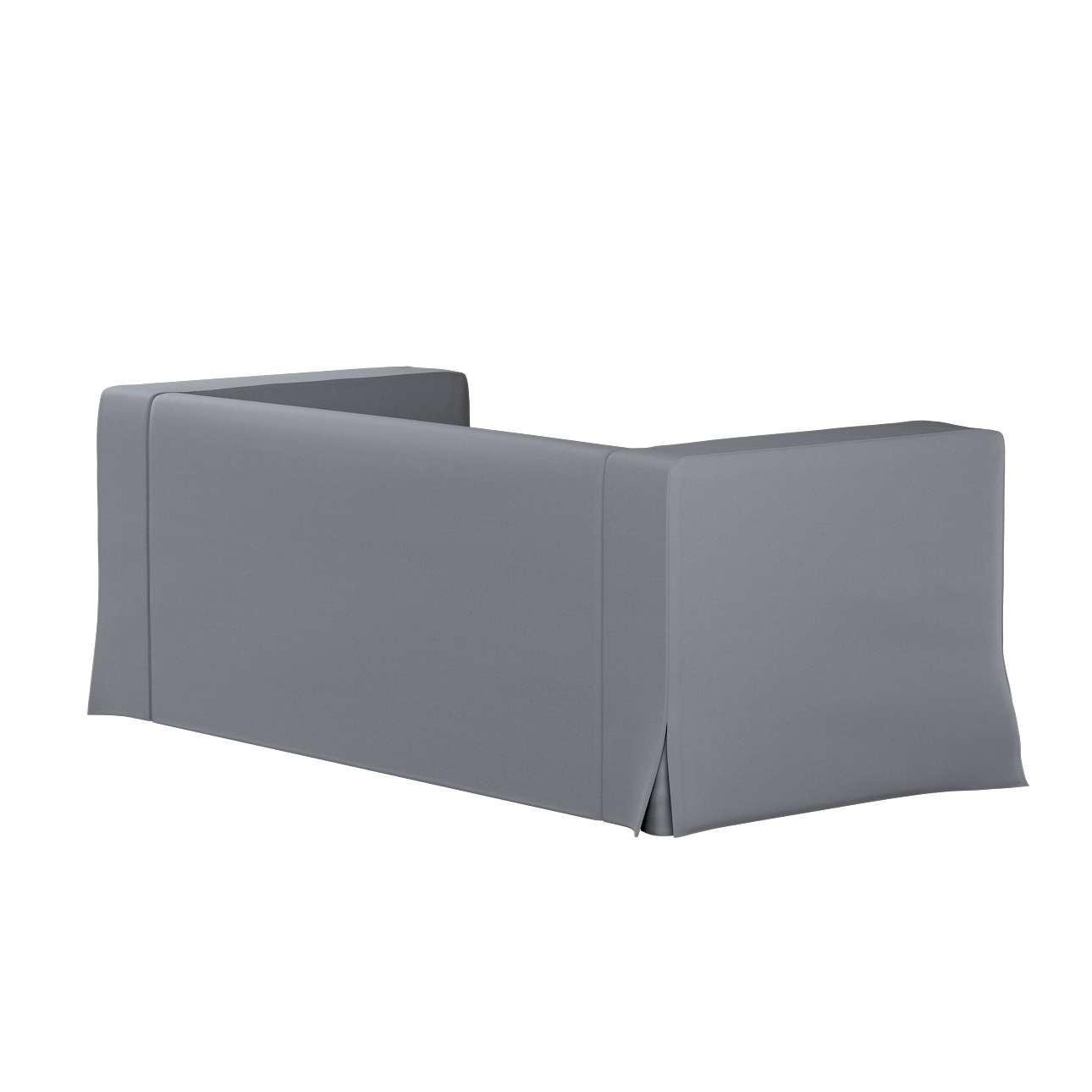 Bezug für Klippan 2-Sitzer Sofa, lang mit Kellerfalte von der Kollektion Cotton Panama, Stoff: 702-07