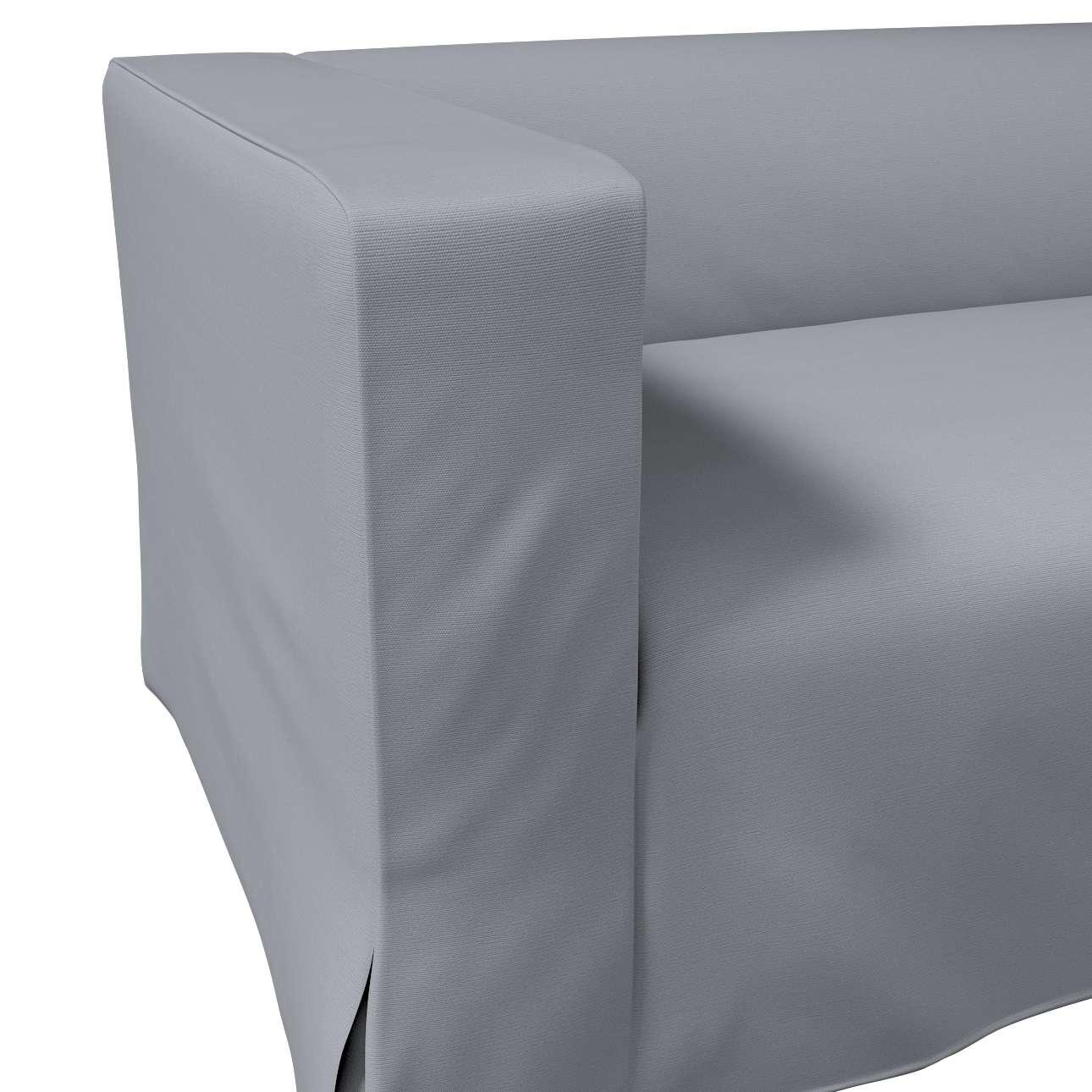 Pokrowiec na sofę Klippan 2-osobową długi z kontrafałdami w kolekcji Cotton Panama, tkanina: 702-07