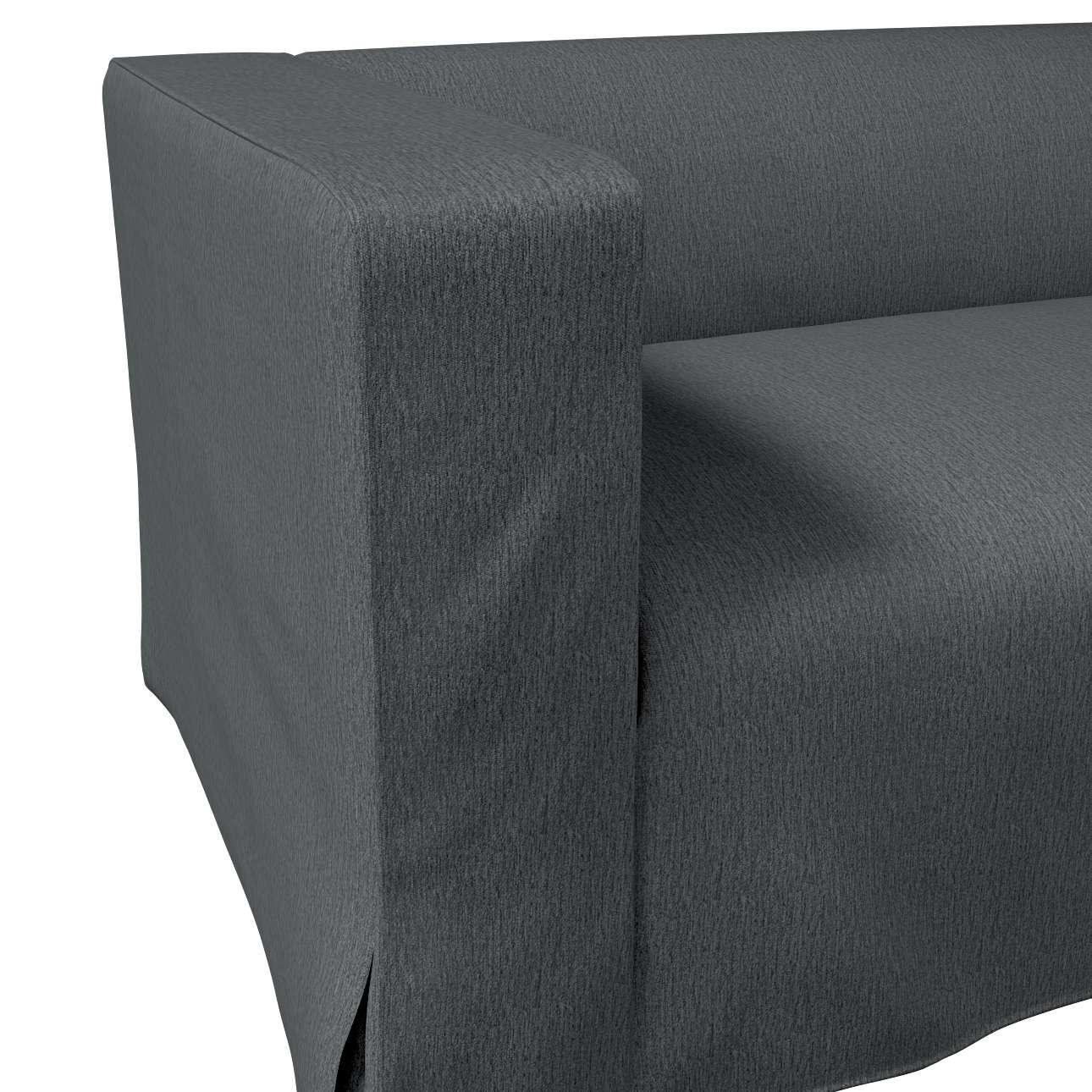 Poťah na sedačku Klippan pre 2 osoby dlhý s rohovými záhybmi V kolekcii Chenille, tkanina: 702-20