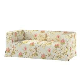 Klippan 2-seater floor length sofa cover with box pleats