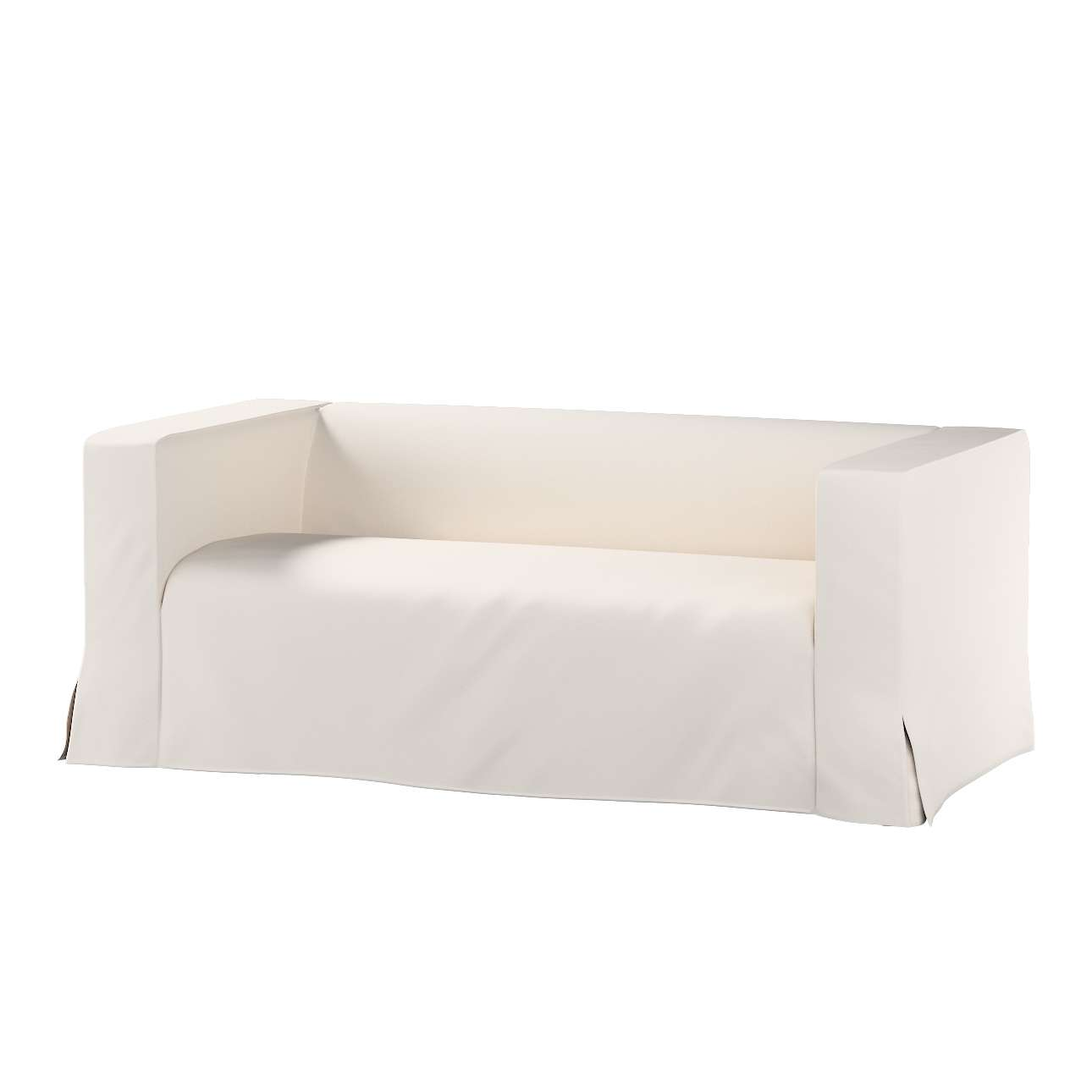 Pokrowiec na sofę Klippan 2-osobową długi z kontrafałdami Klippan 2-os w kolekcji Etna , tkanina: 705-01