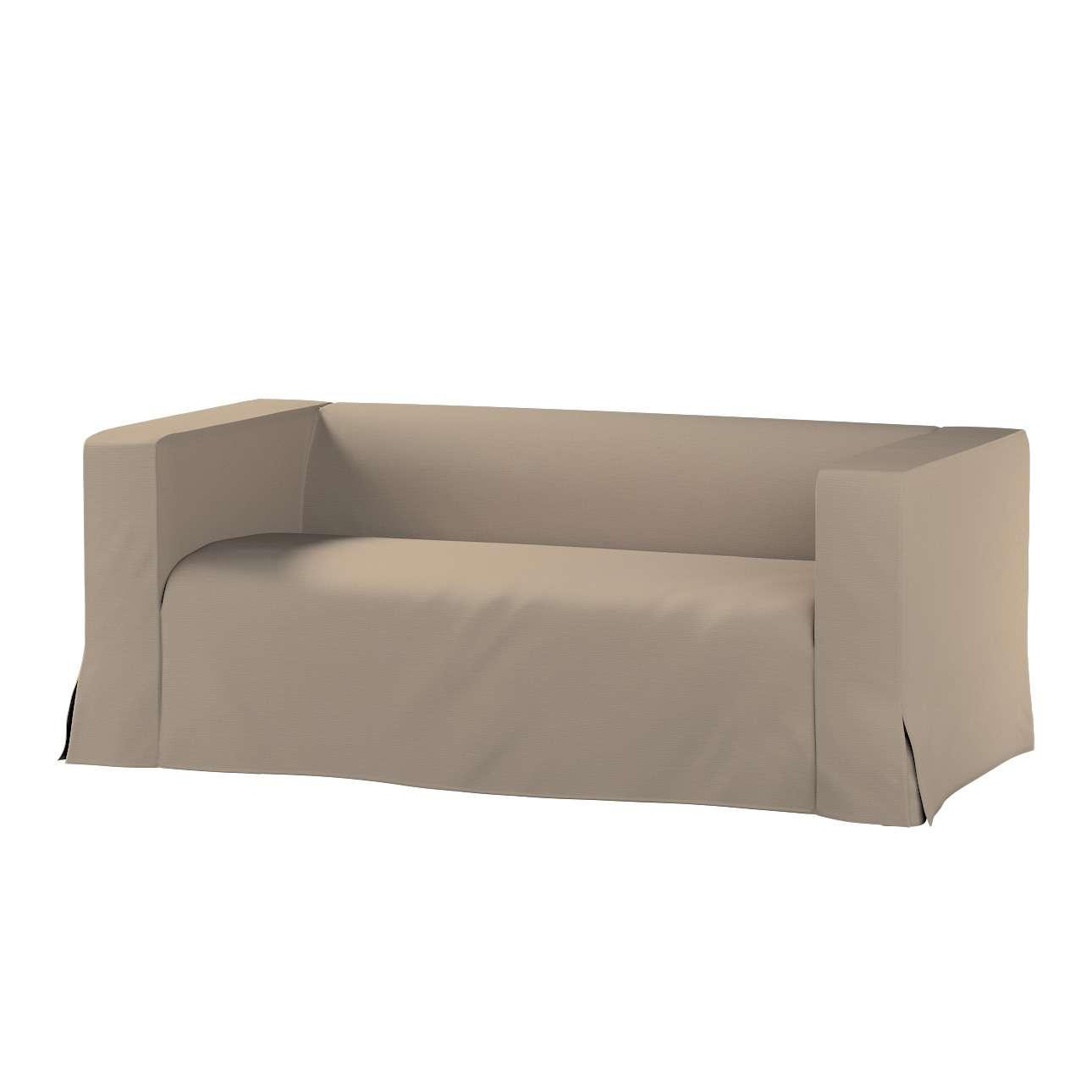 Pokrowiec na sofę Klippan 2-osobową długi z kontrafałdami Klippan 2-os w kolekcji Cotton Panama, tkanina: 702-28