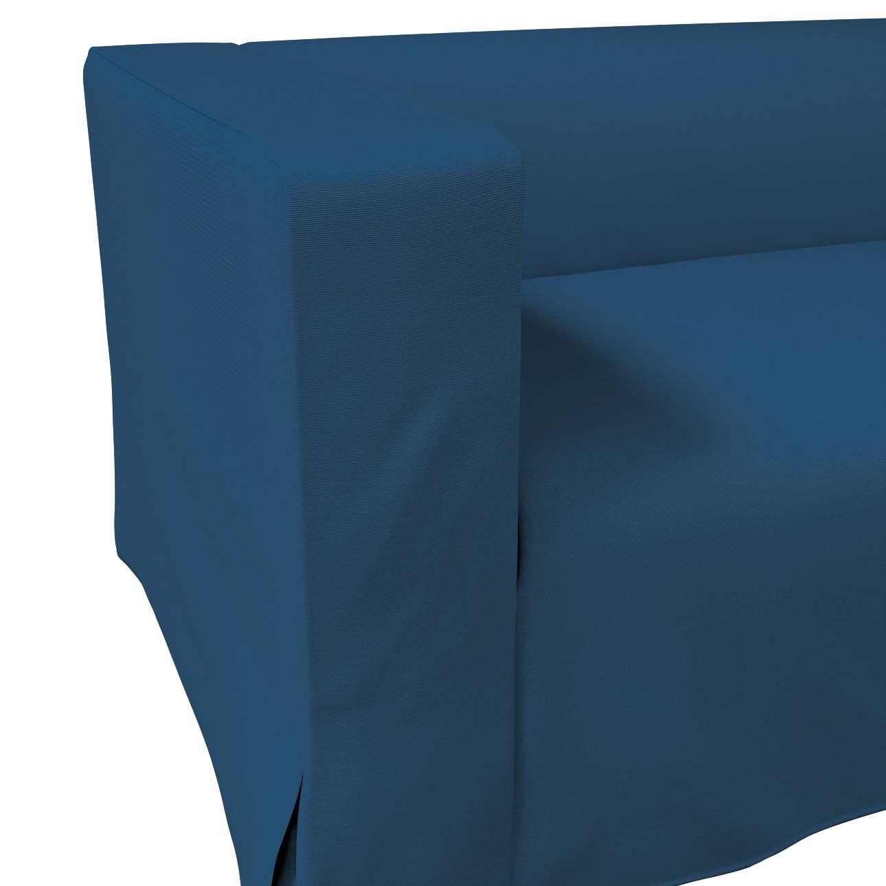 Pokrowiec na sofę Klippan 2-osobową długi z kontrafałdami w kolekcji Cotton Panama, tkanina: 702-30