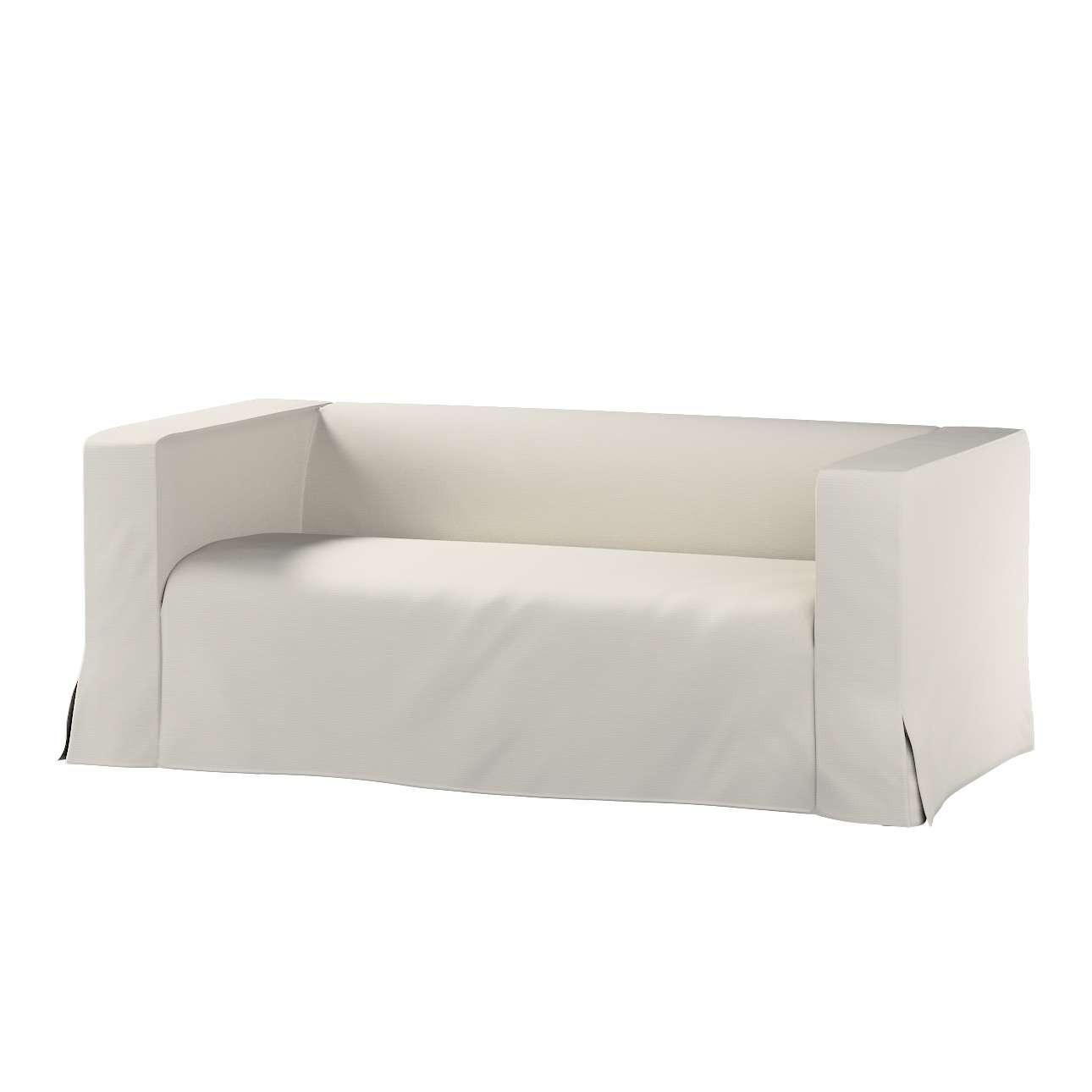 Pokrowiec na sofę Klippan 2-osobową długi z kontrafałdami Klippan 2-os w kolekcji Cotton Panama, tkanina: 702-31