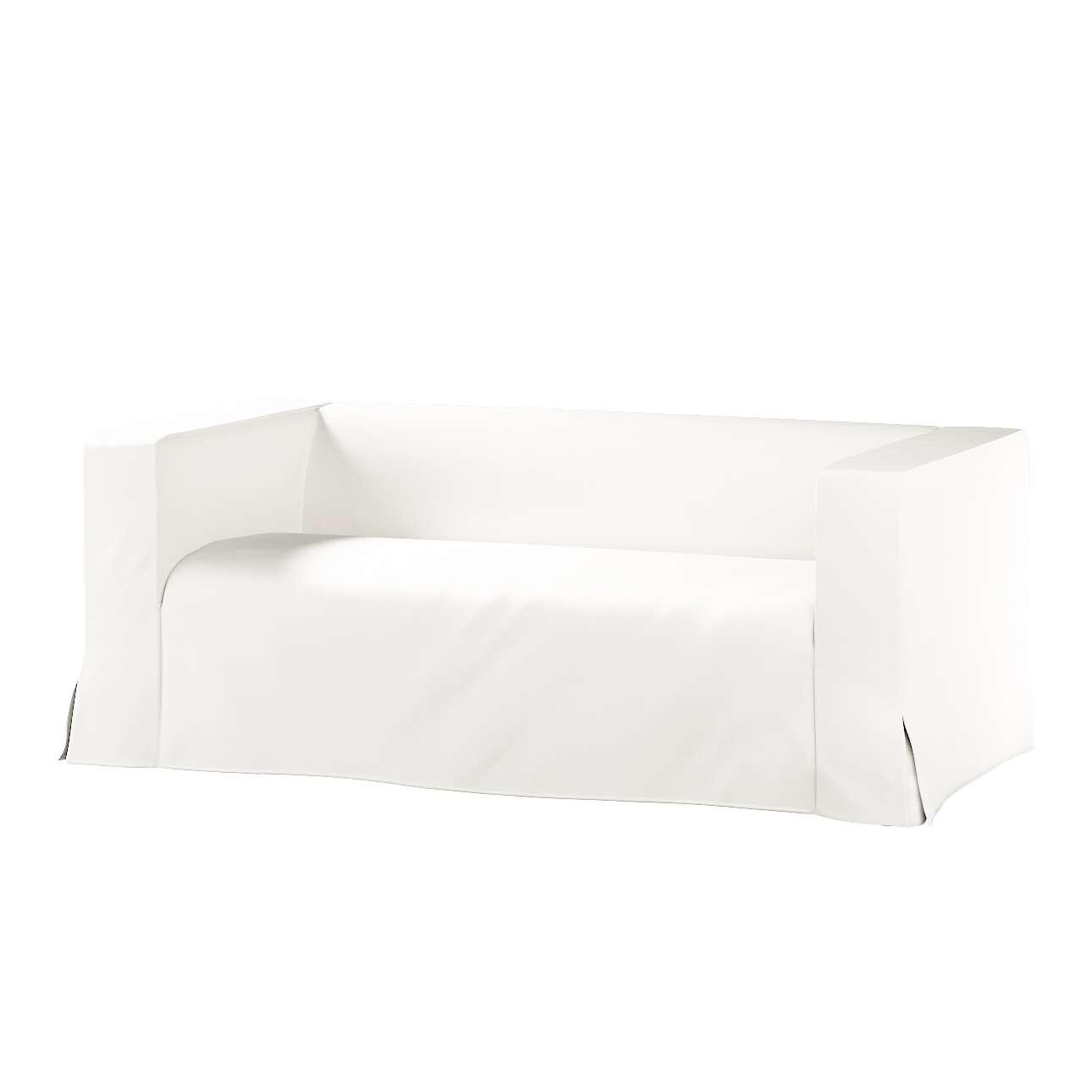 Pokrowiec na sofę Klippan 2-osobową długi z kontrafałdami Klippan 2-os w kolekcji Cotton Panama, tkanina: 702-34