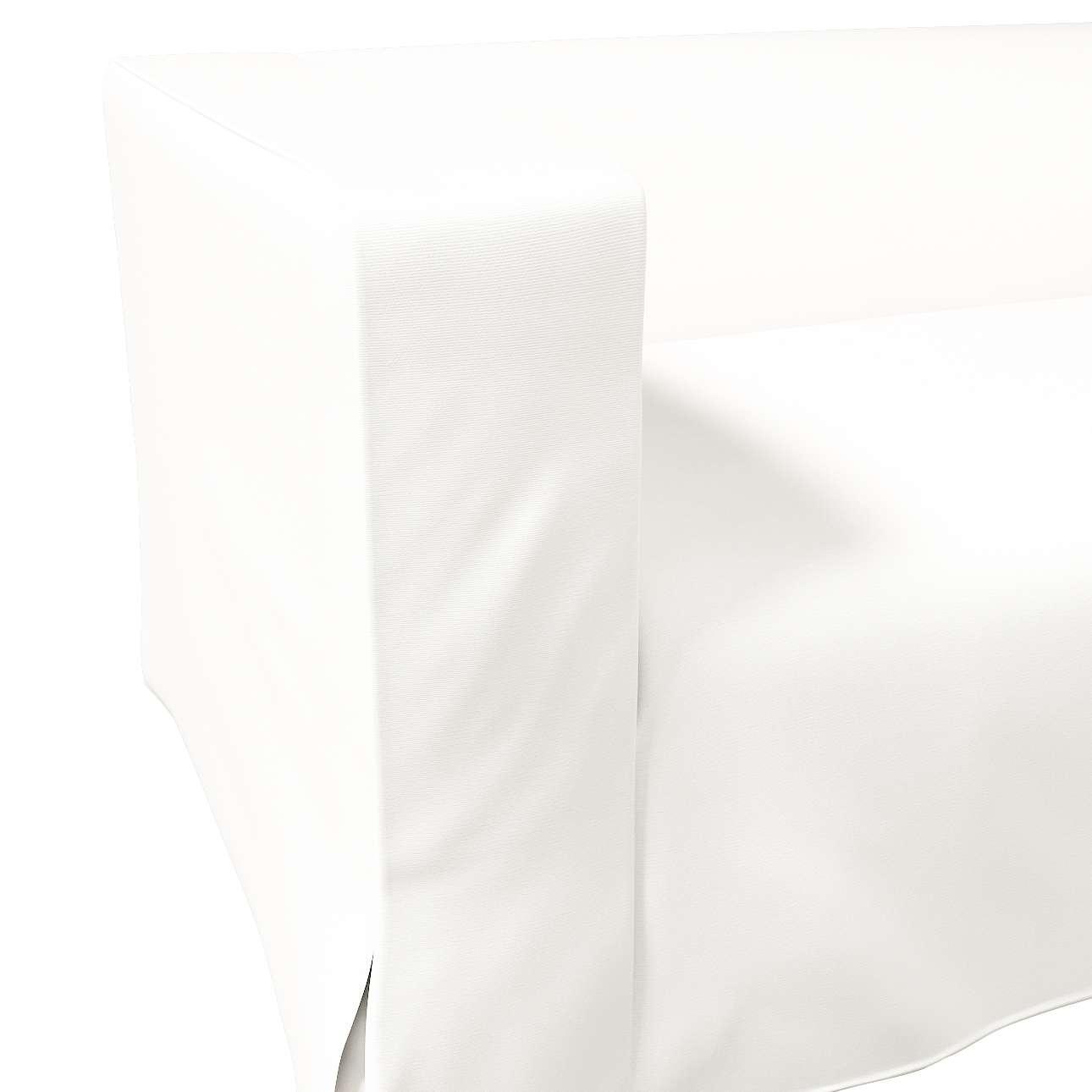 Pokrowiec na sofę Klippan 2-osobową długi z kontrafałdami w kolekcji Cotton Panama, tkanina: 702-34