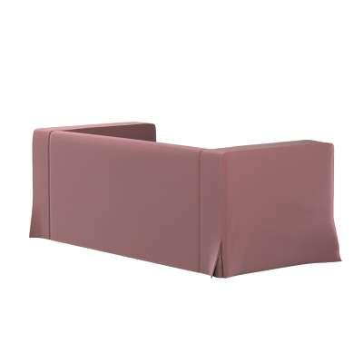 Pokrowiec na sofę Klippan 2-osobową długi z kontrafałdami 705-38 jasna śliwka - welwet Kolekcja Ingrid