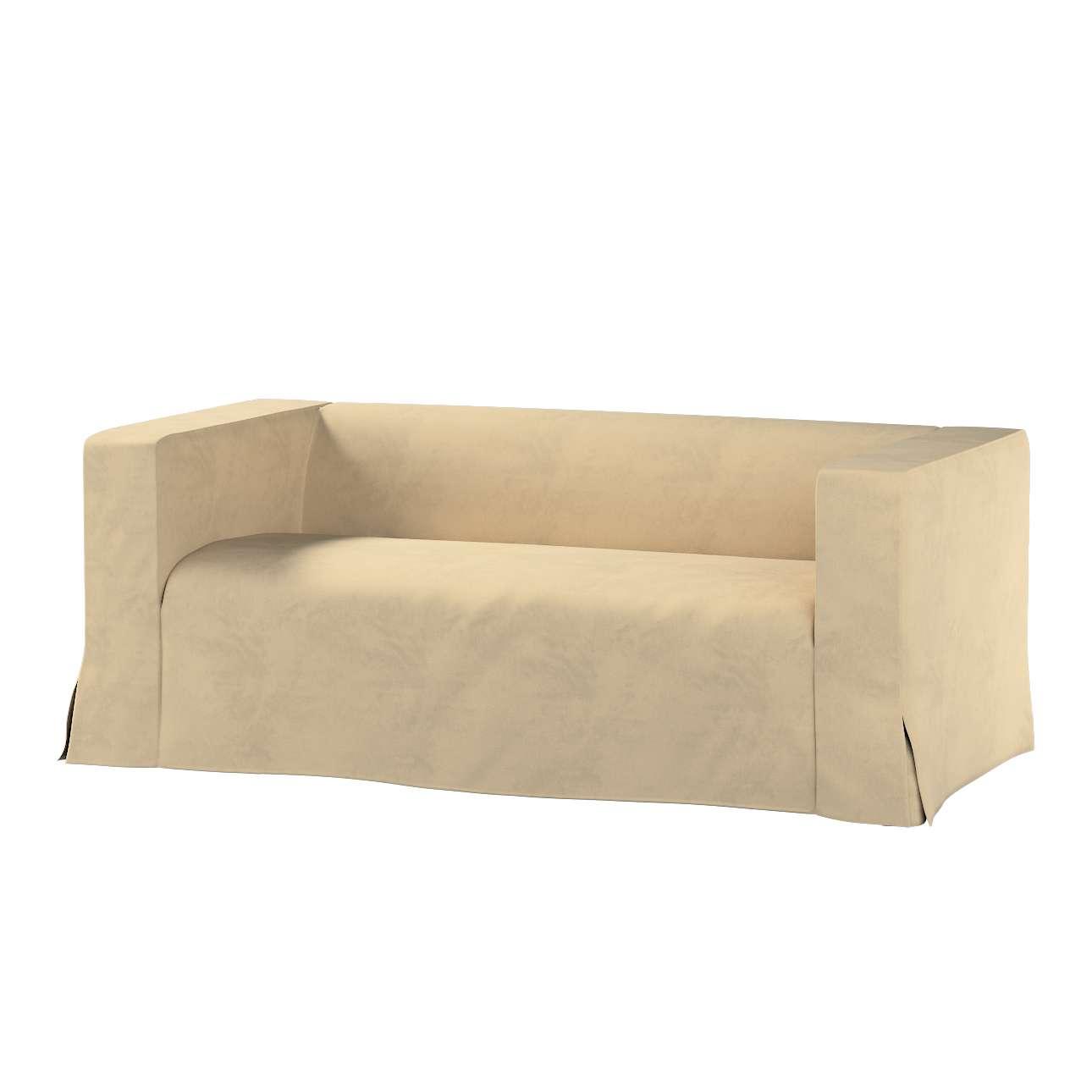 Pokrowiec na sofę Klippan 2-osobową długi z kontrafałdami w kolekcji Living, tkanina: 160-82