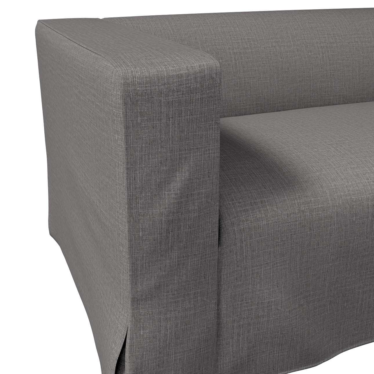 Pokrowiec na sofę Klippan 2-osobową długi z kontrafałdami w kolekcji Living, tkanina: 161-16
