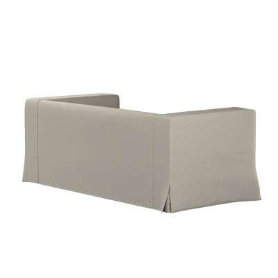 Pokrowiec na sofę Klippan 2-osobową długi z kontrafałdami 161-23 szaro-beżowy melanż Kolekcja Madrid