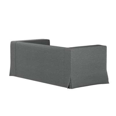 Pokrowiec na sofę Klippan 2-osobową długi z kontrafałdami 161-24 szary melanż Kolekcja Madrid