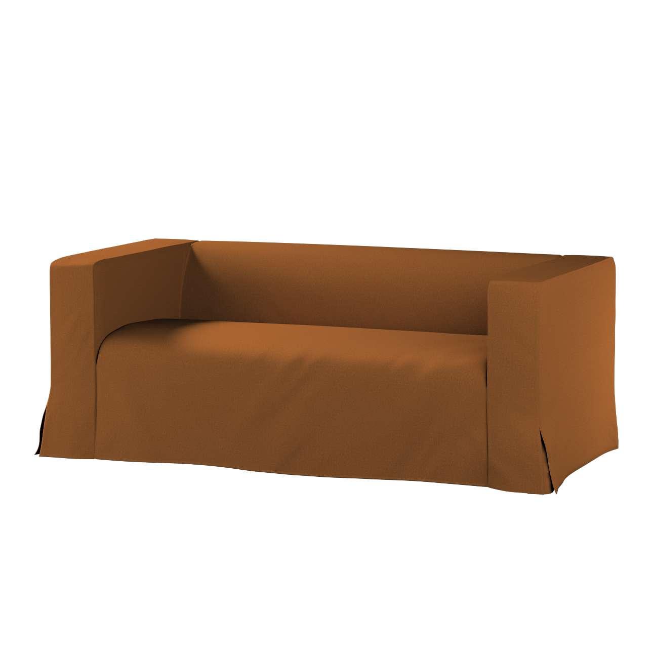 Pokrowiec na sofę Klippan 2-osobową długi z kontrafałdami w kolekcji Living, tkanina: 161-28