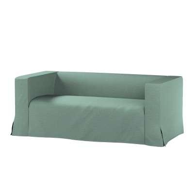 Pokrowiec na sofę Klippan 2-osobową długi z kontrafałdami 161-89 szara mięta melanż Kolekcja Madrid