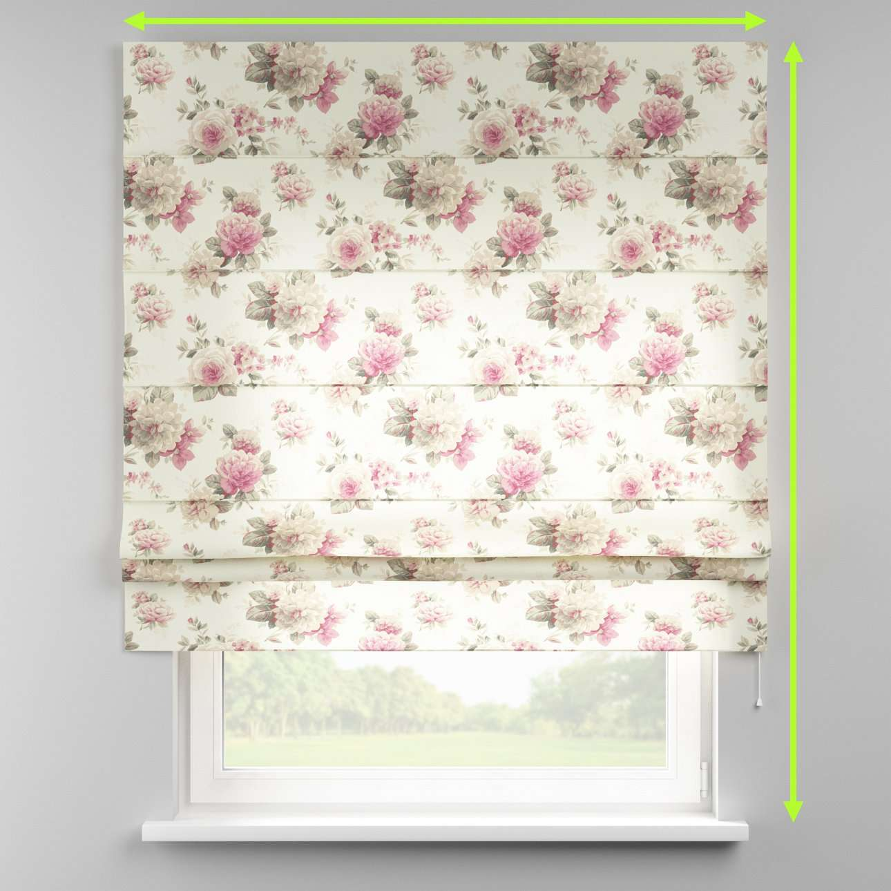 Padva roman blind in collection Londres, fabric: 141-07
