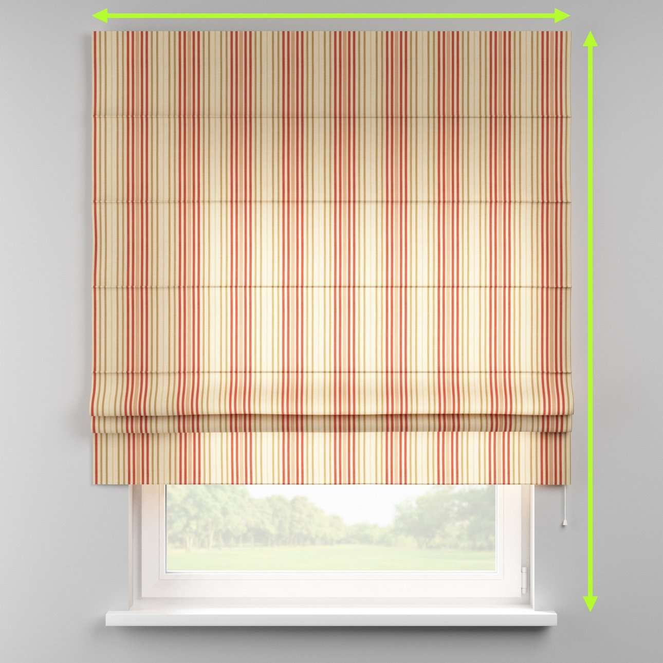 Padva roman blind  in collection Londres, fabric: 122-05