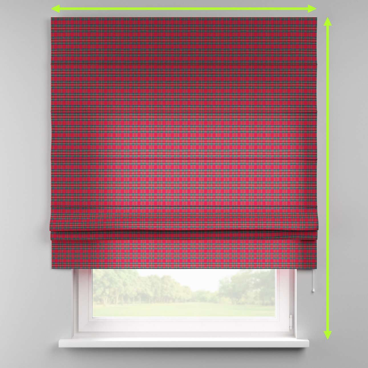Padva roman blind  in collection Christmas , fabric: 126-29