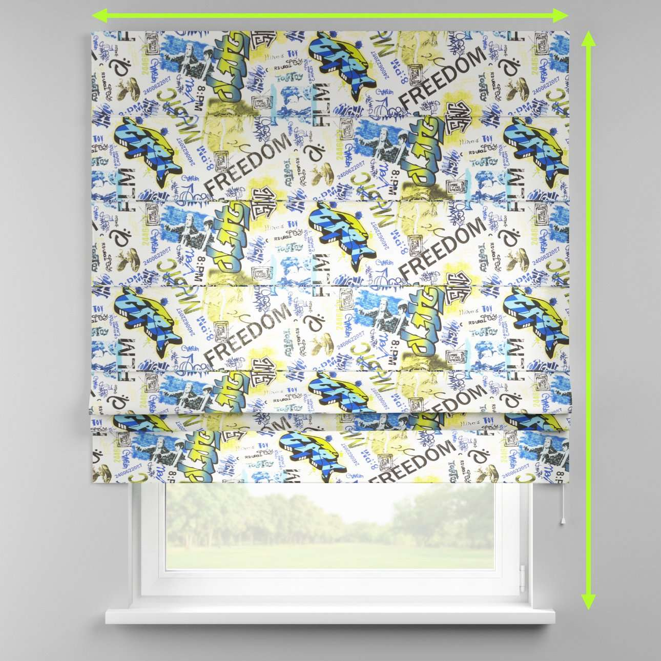 Padva roman blind  in collection Freestyle, fabric: 135-08