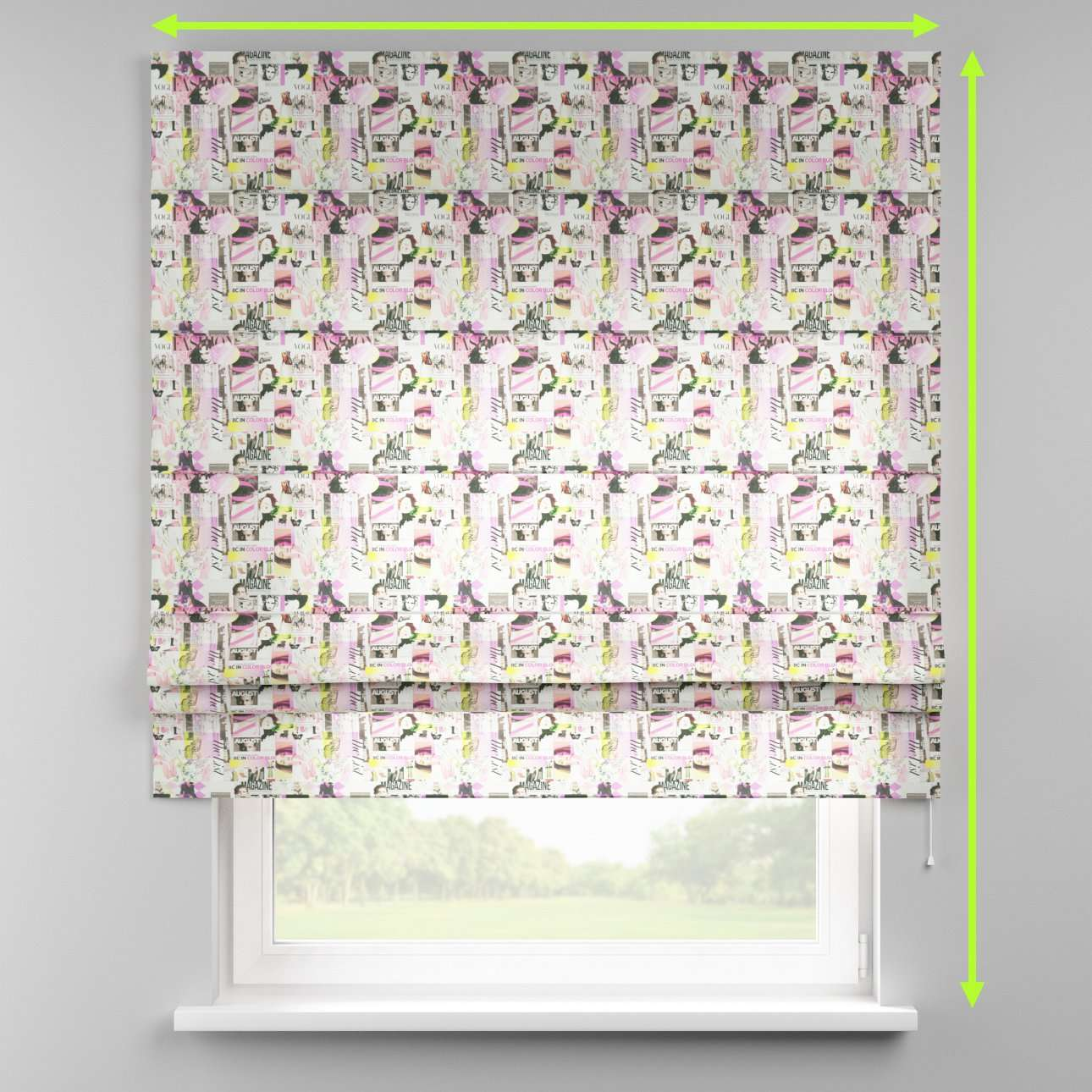 Padva roman blind  in collection Freestyle, fabric: 135-15