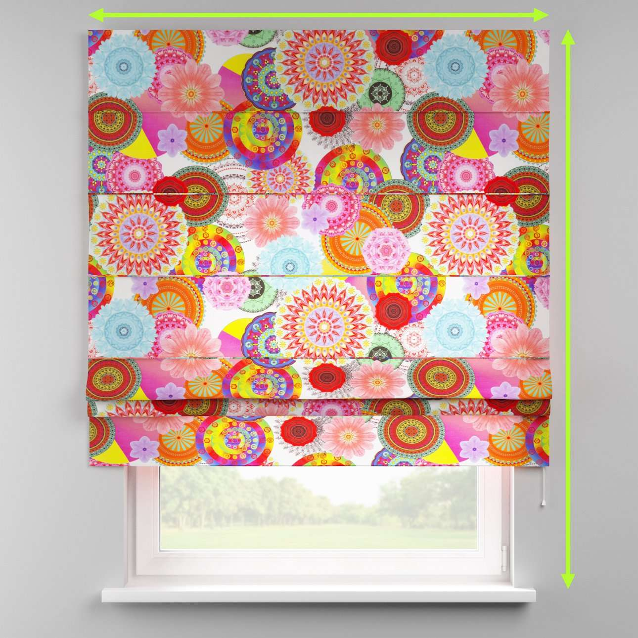 Padva roman blind  in collection Comic Book & Geo Prints, fabric: 135-22