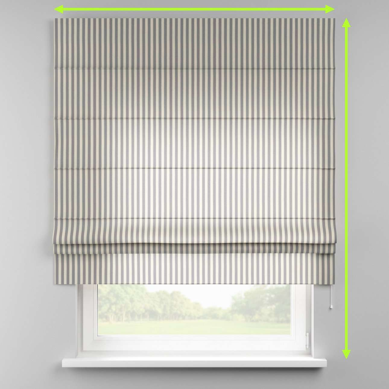 Padva roman blind  in collection Quadro, fabric: 136-02