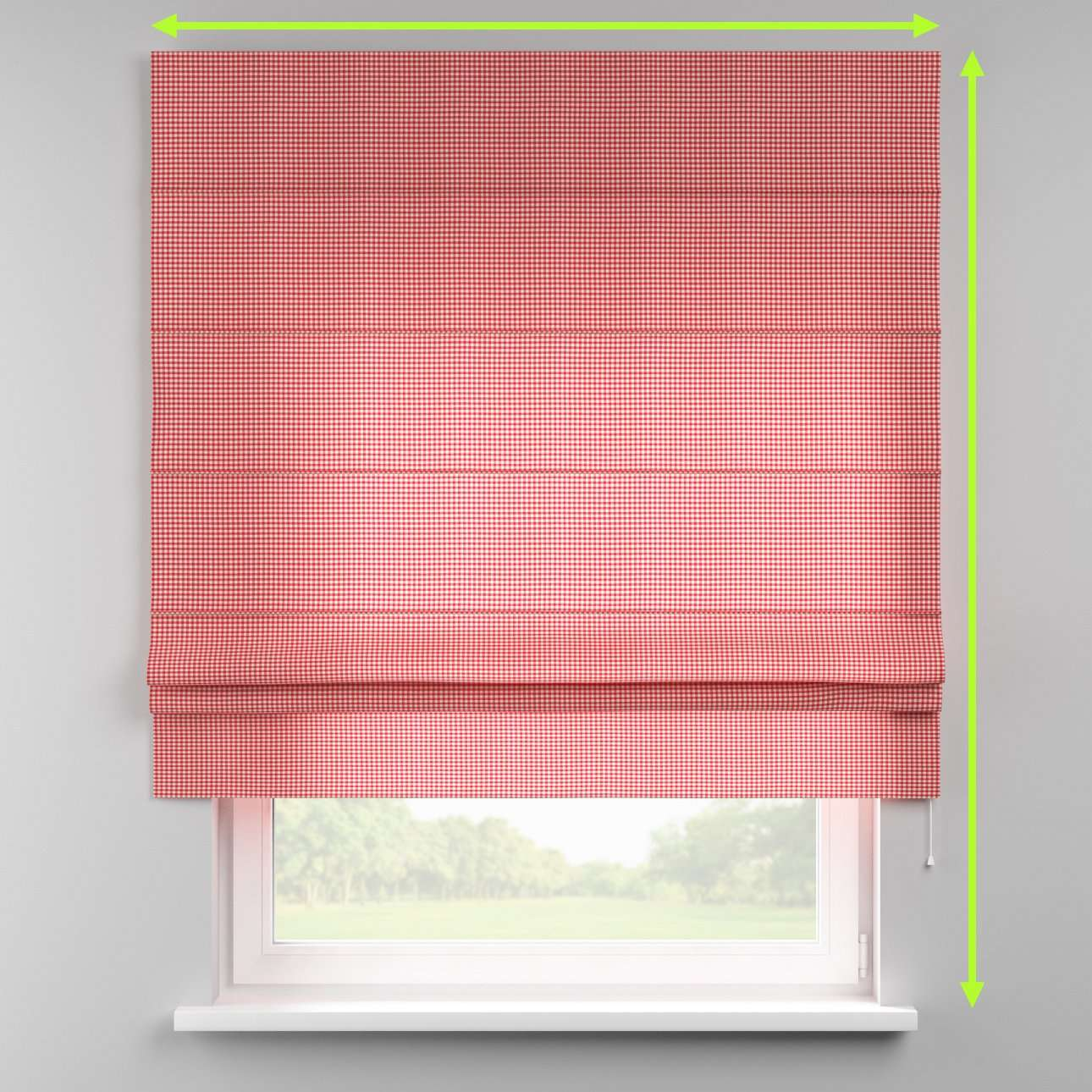 Padva roman blind  in collection Quadro, fabric: 136-15