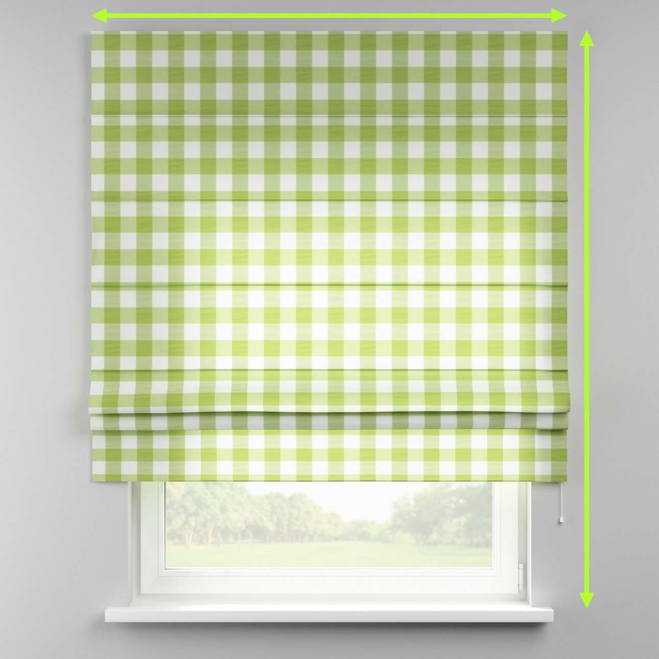 Padva roman blind  in collection Quadro, fabric: 136-36