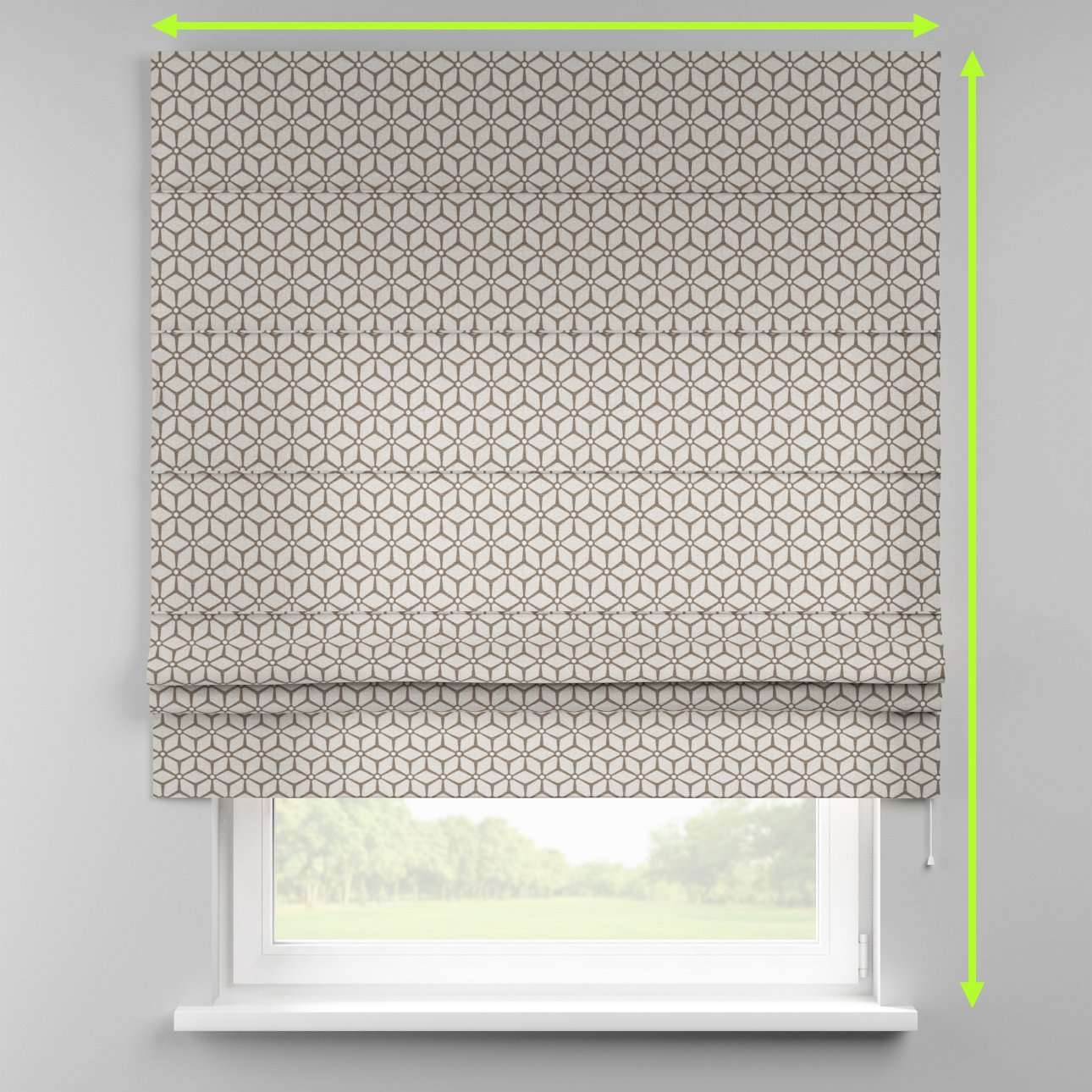 Padva roman blind  in collection Rustica, fabric: 138-21