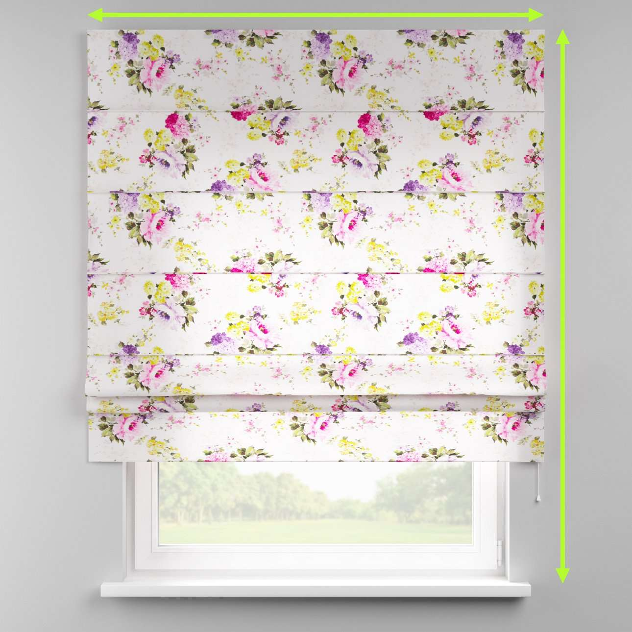 Padva roman blind  in collection Monet, fabric: 140-00