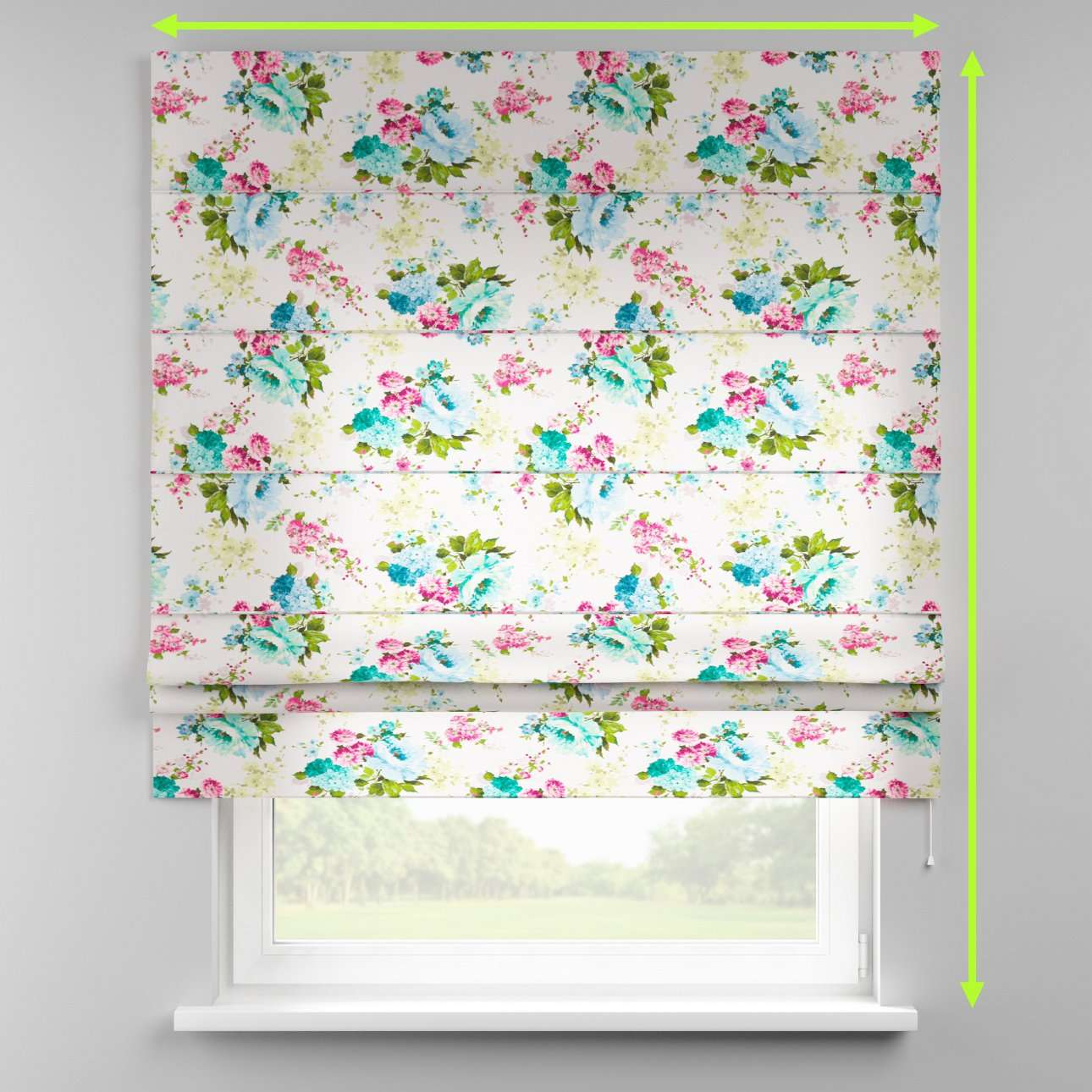 Padva roman blind  in collection Monet, fabric: 140-02