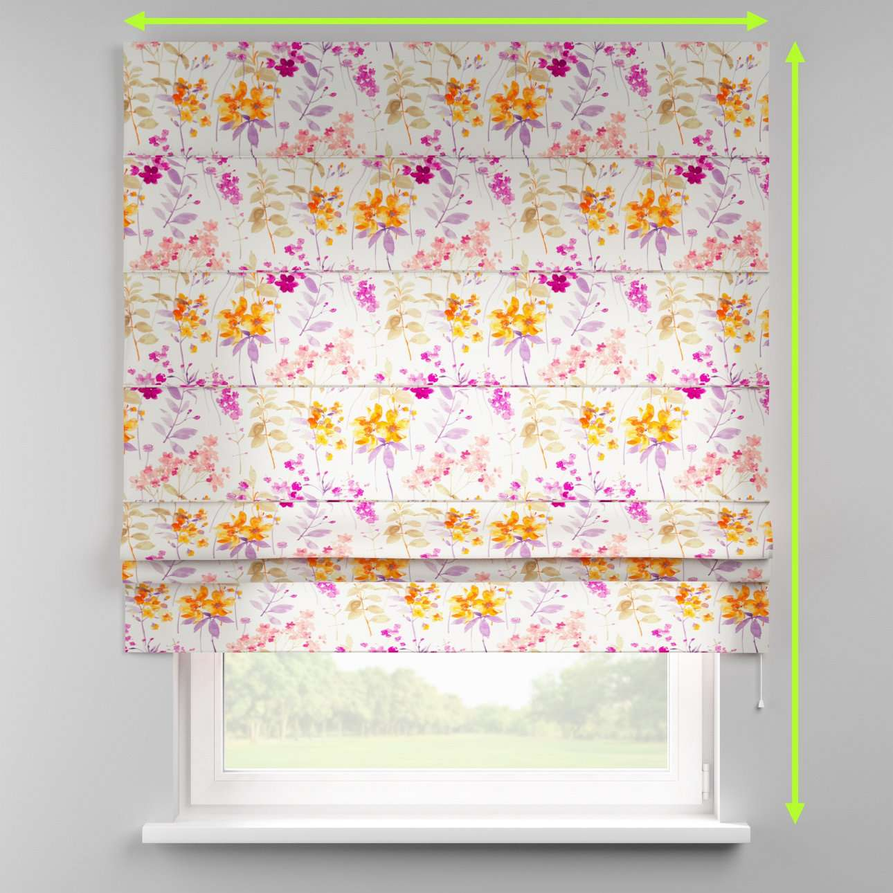 Padva roman blind  in collection Monet, fabric: 140-04