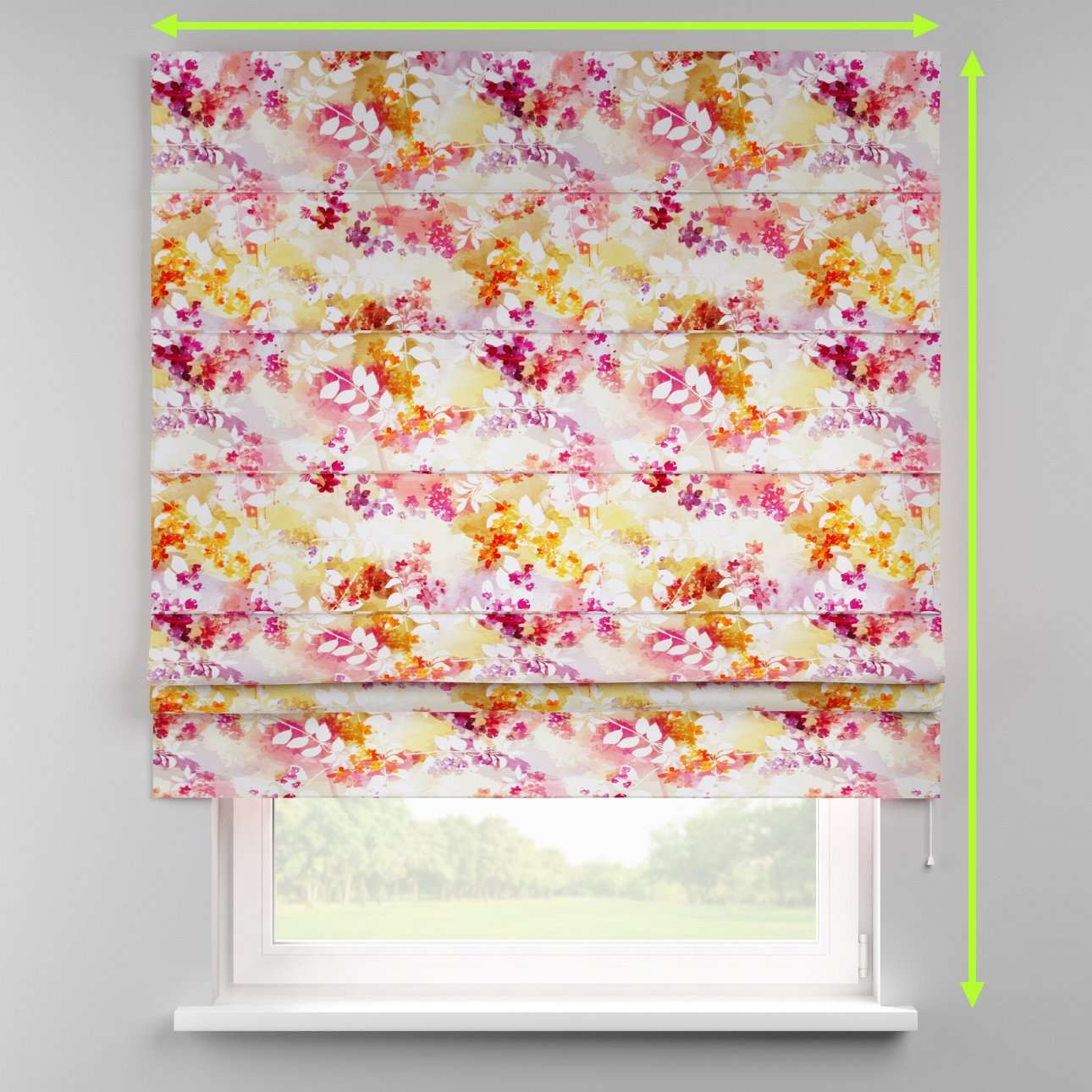 Padva roman blind  in collection Monet, fabric: 140-05