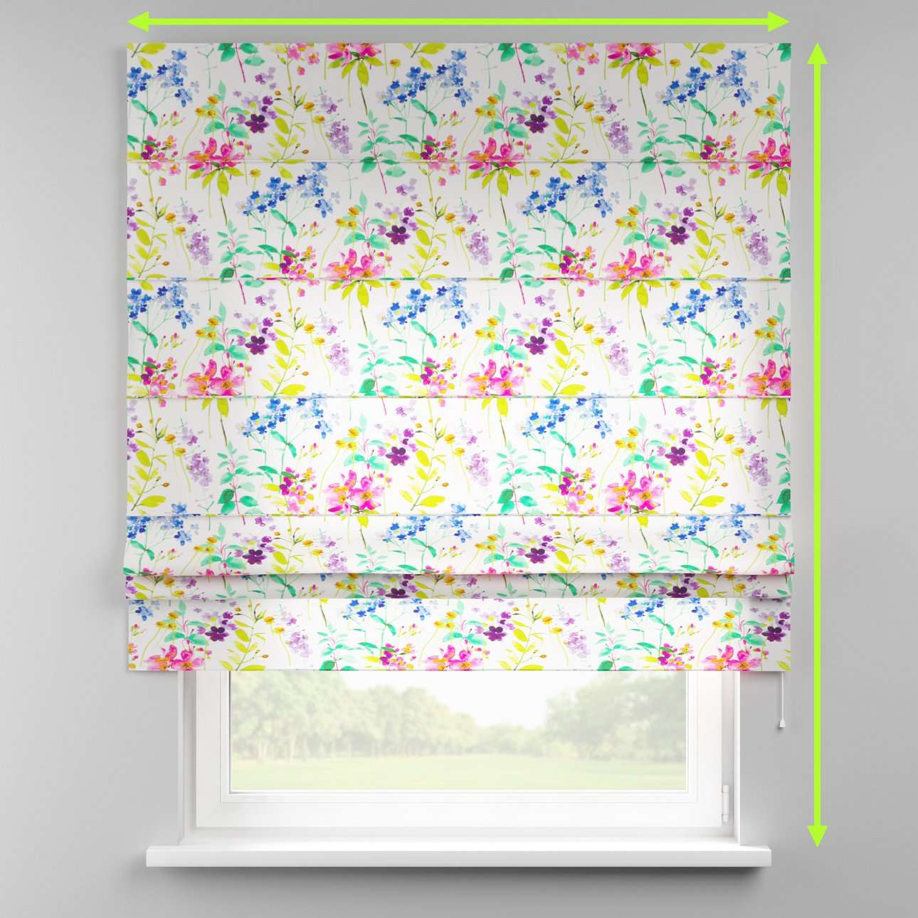 Padva roman blind  in collection Monet, fabric: 140-06