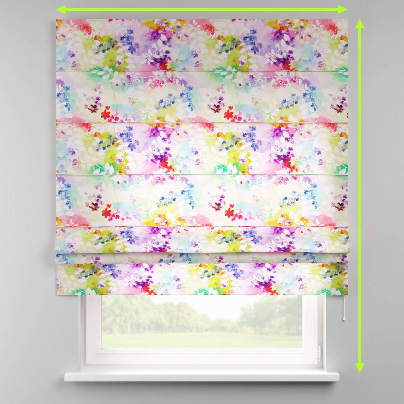 Padva roman blind  in collection Monet, fabric: 140-07