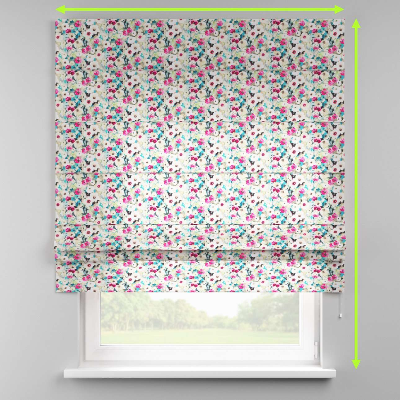 Padva roman blind  in collection Monet, fabric: 140-10