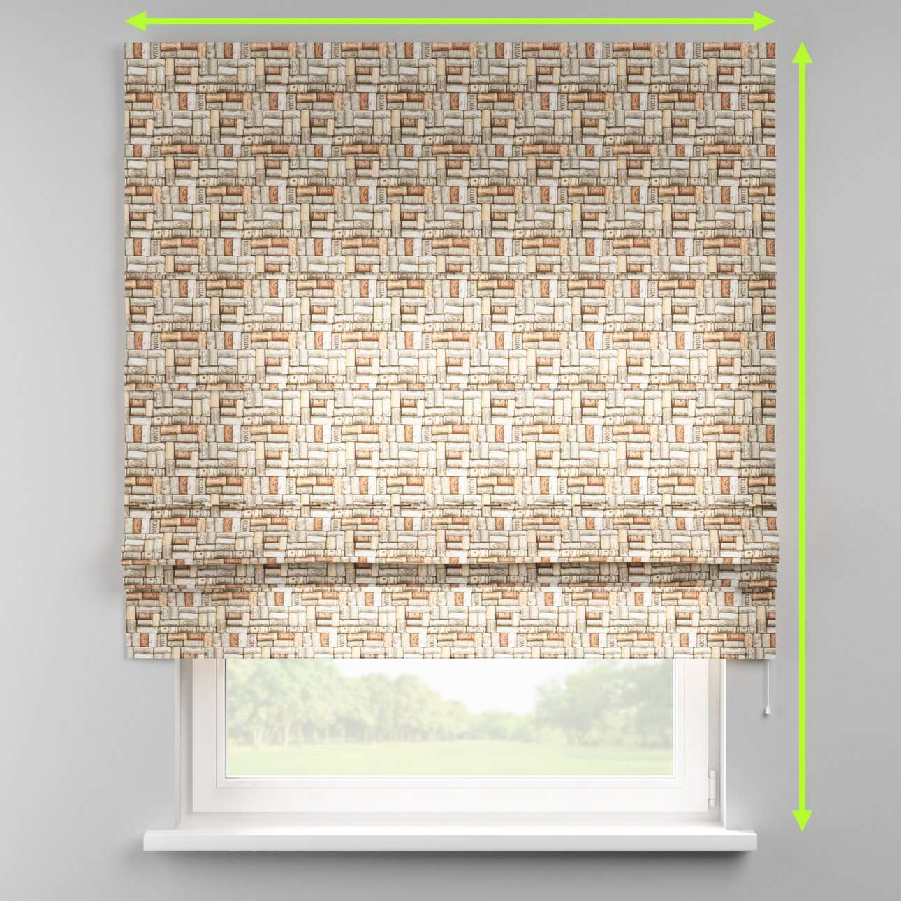 Padva roman blind  in collection Marina, fabric: 140-13
