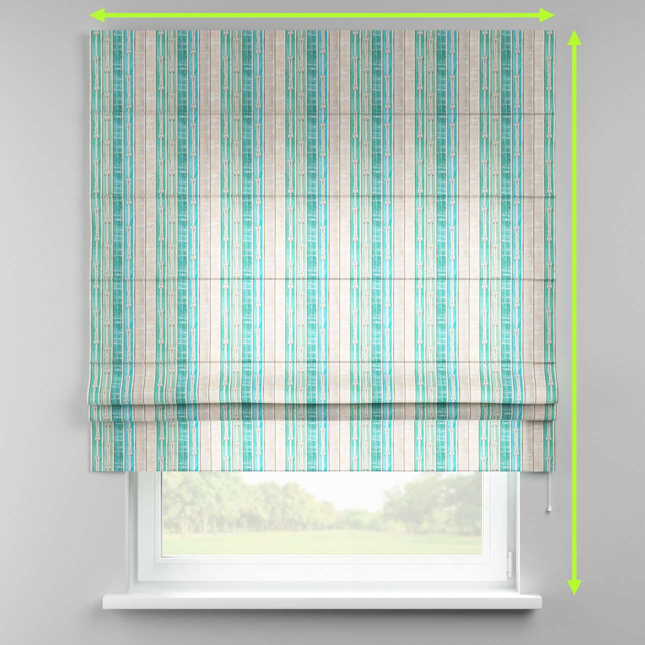 Padva roman blind  in collection Marina, fabric: 140-14