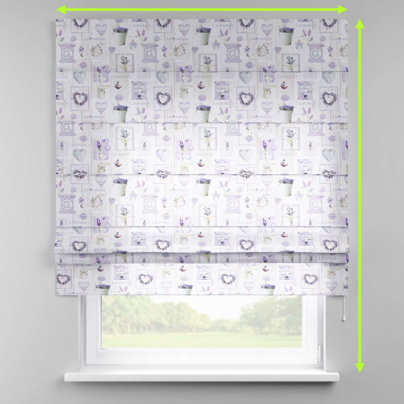 Padva roman blind  in collection Ashley, fabric: 140-18