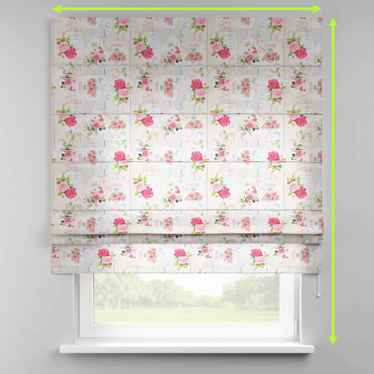 Padva roman blind  in collection Ashley, fabric: 140-19