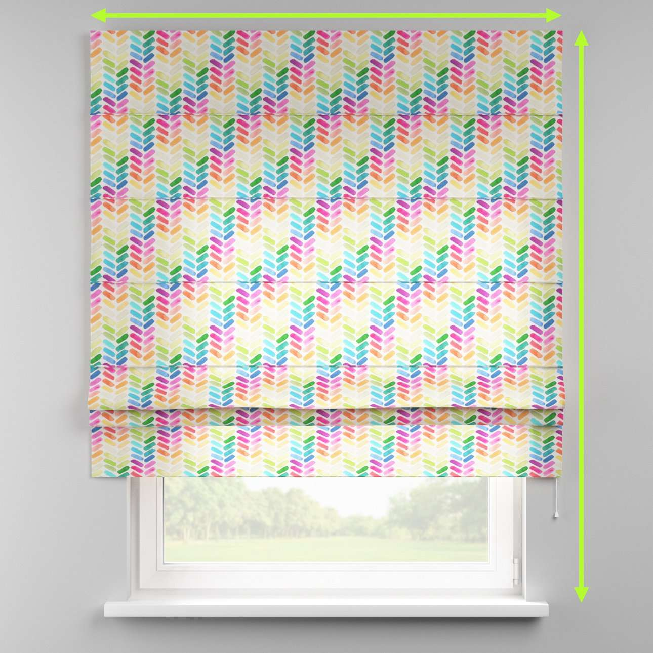 Padva roman blind  in collection New Art, fabric: 140-25