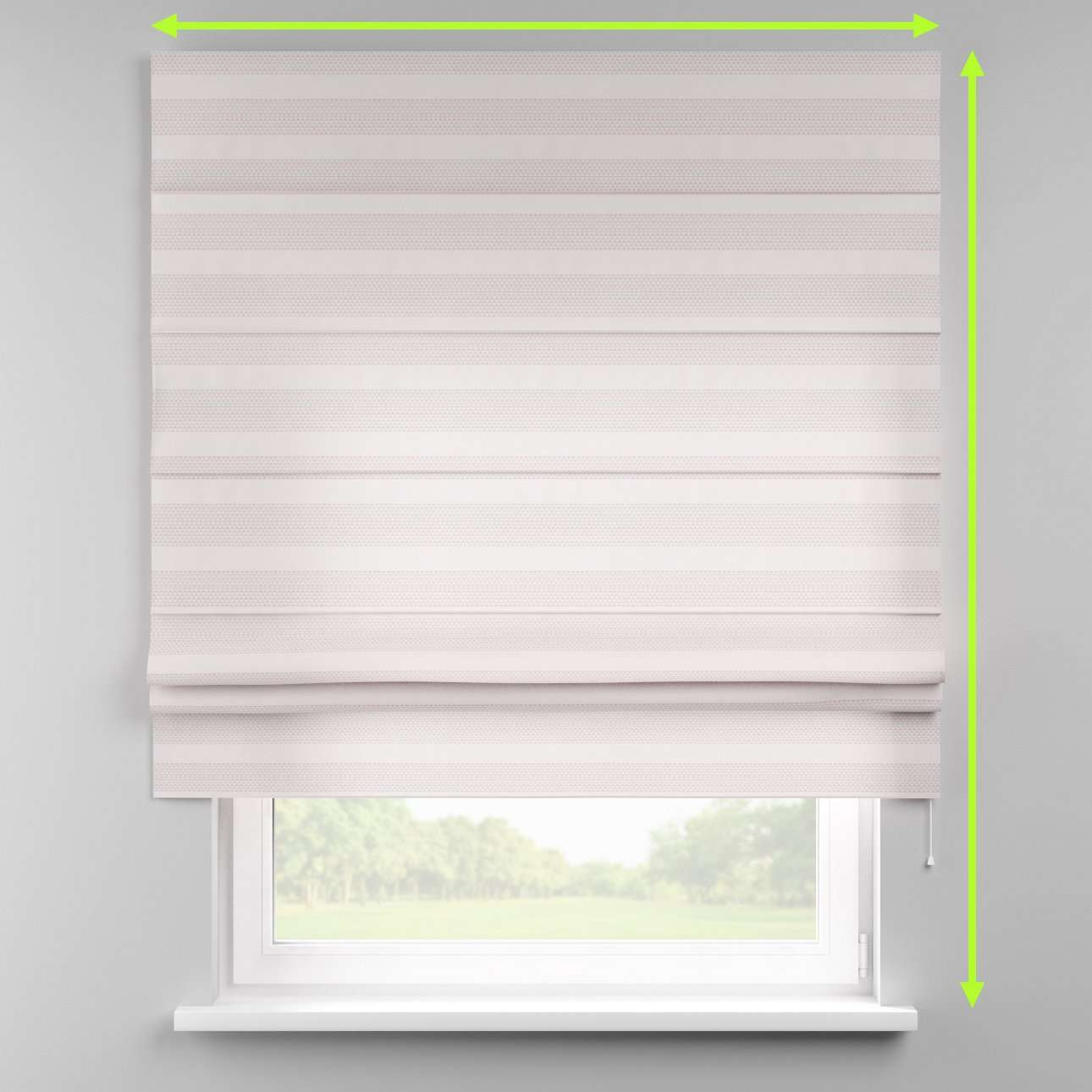 Padva roman blind  in collection Rustica, fabric: 140-29