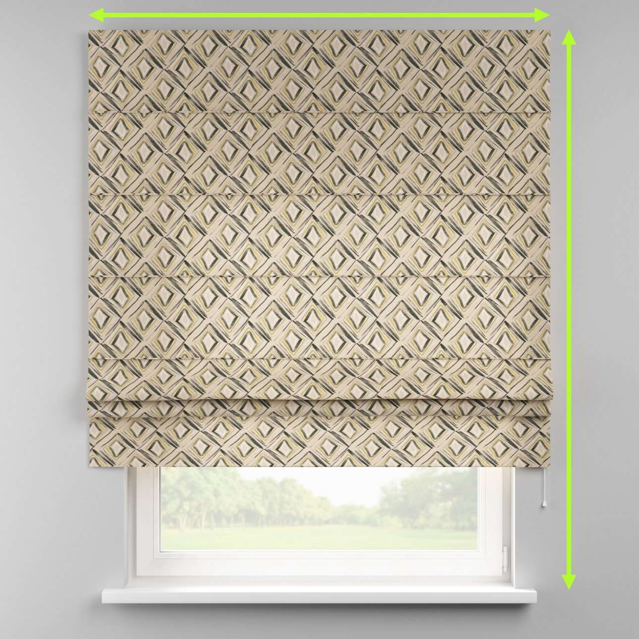 Padva roman blind  in collection Londres, fabric: 140-46
