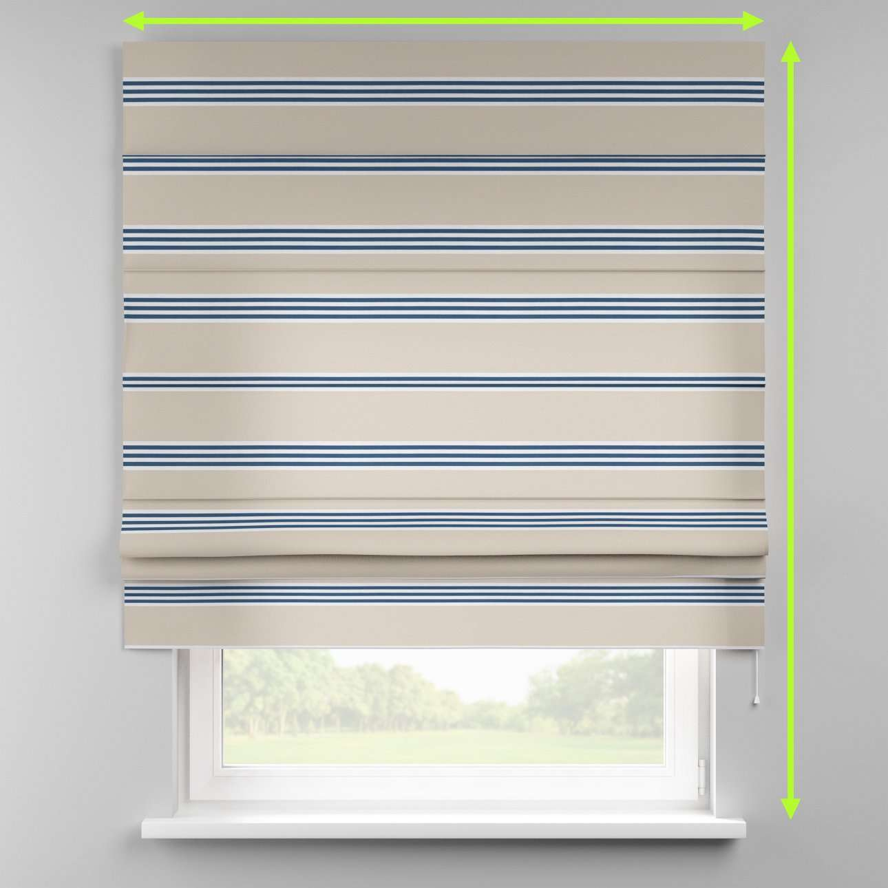 Padva roman blind  in collection Marina, fabric: 140-60