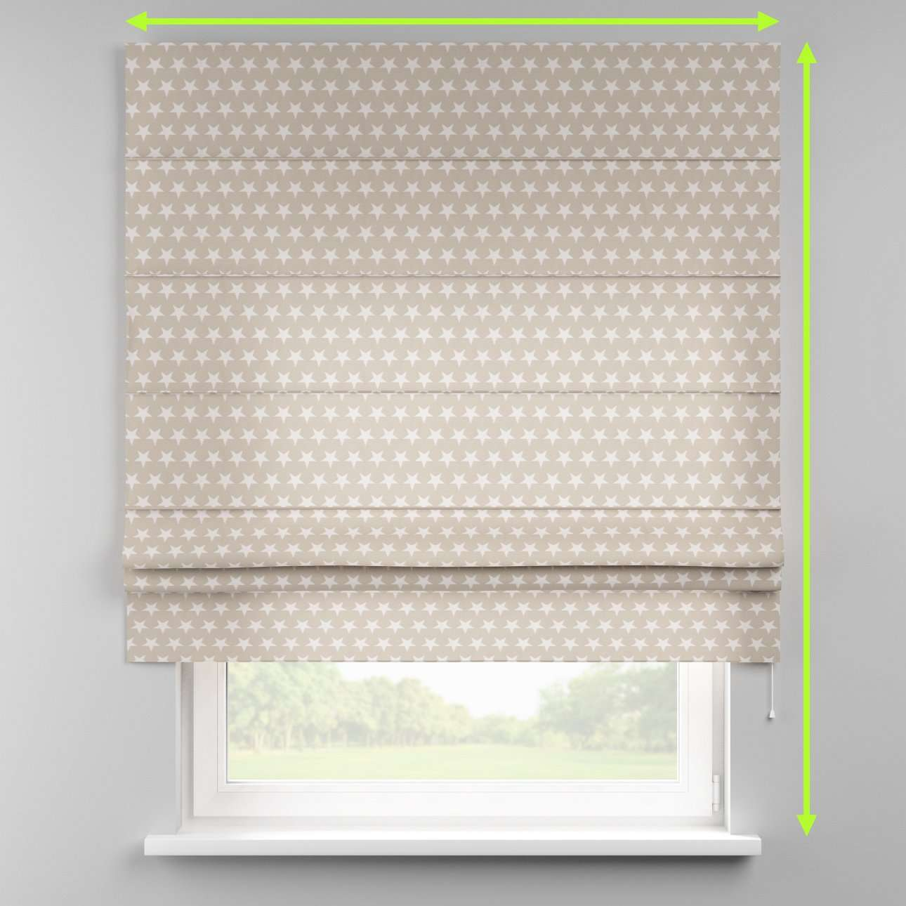 Padva roman blind  in collection Marina, fabric: 140-62