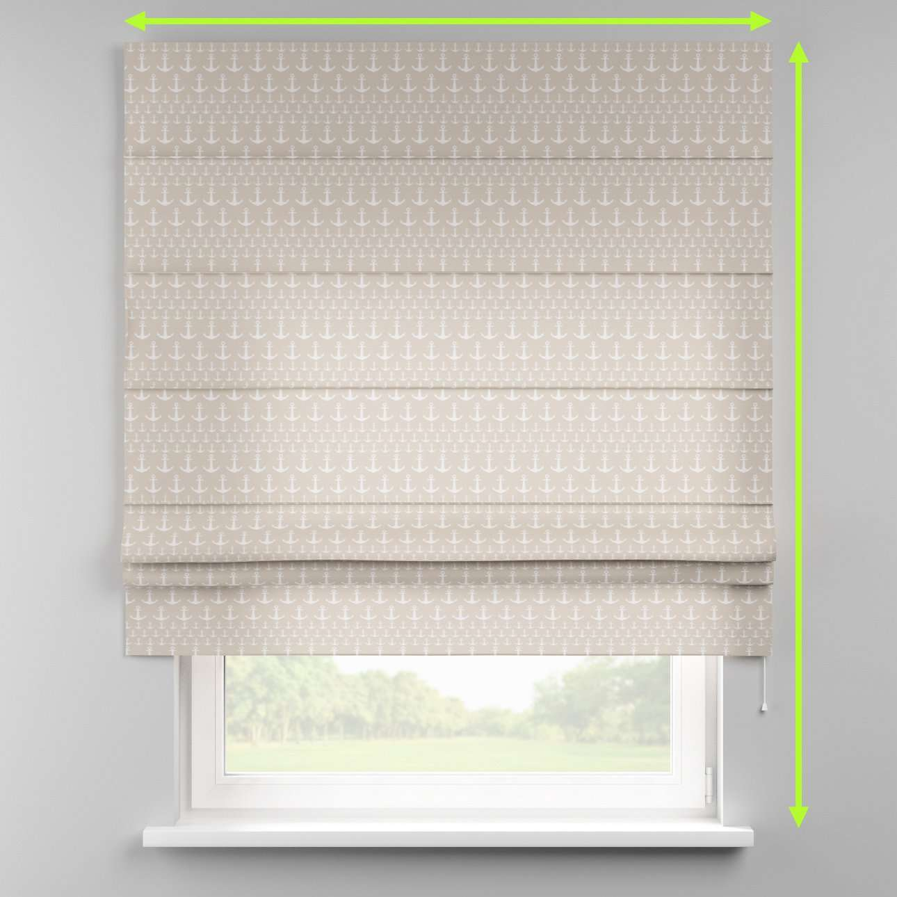 Padva roman blind  in collection Marina, fabric: 140-63