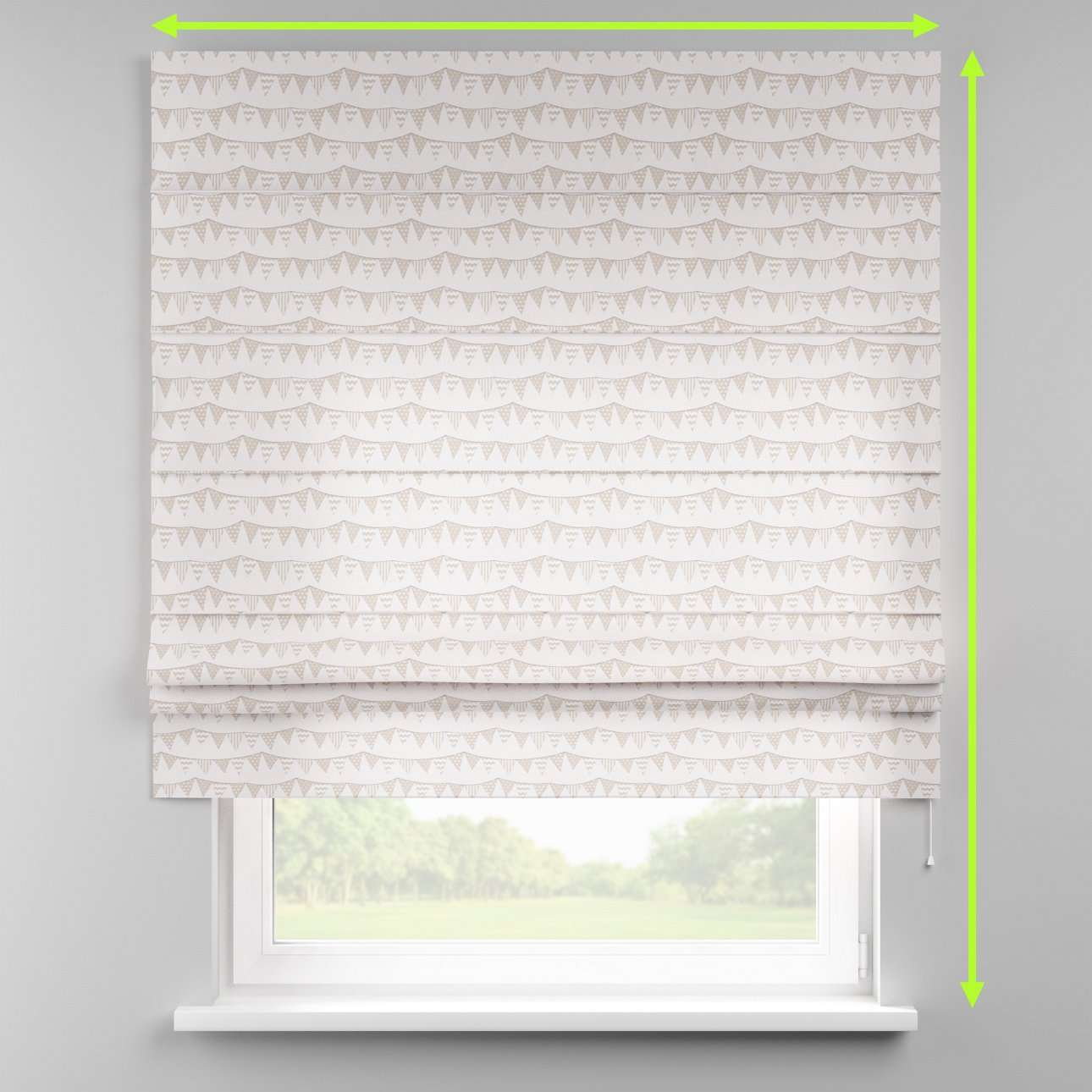 Padva roman blind  in collection Marina, fabric: 140-65